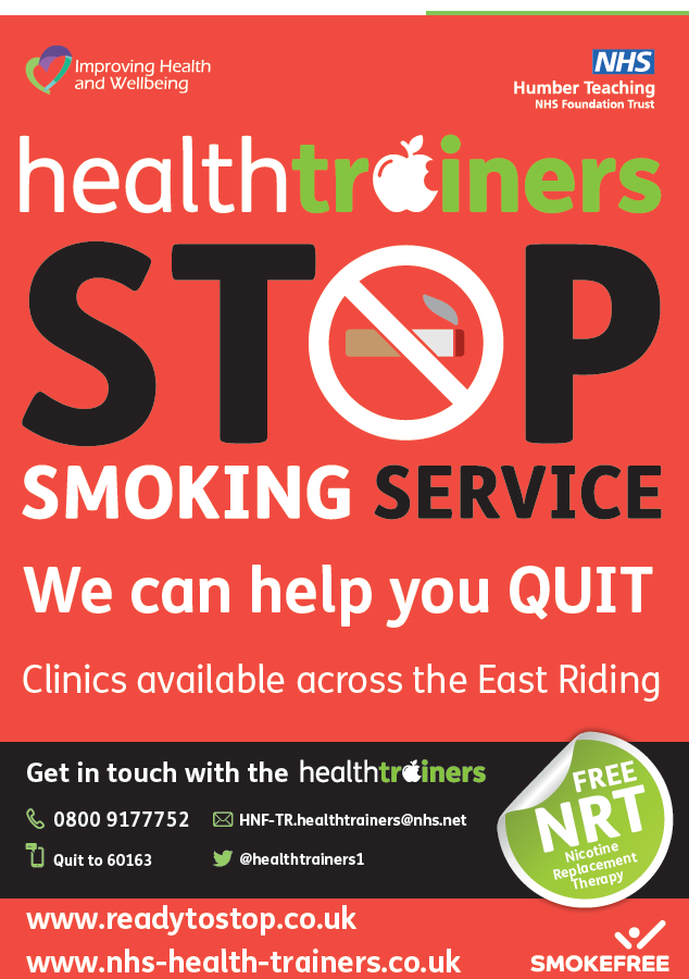 HealthTrainers Stop Smoking Service Poster